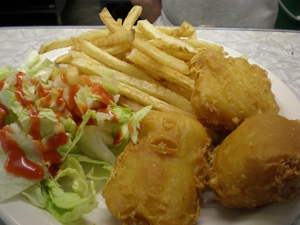 Beer Battered Cod Dinner Plate